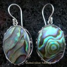 925 Silver Oval Paua Shell Designer Earrings ER-502-KT