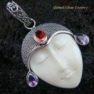 Sterling Silver Garnet & Amethyst Goddess Pendant GDP-889-KA