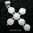 925 Silver Eye of Shiva Cross Pendant SP-295-KT