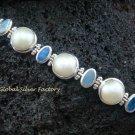 925 Silver 5 Pearls & 4 Opal Designer Bracelet SBB-317-KT