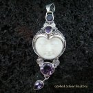 Sterling Silver & Four Amethyst Goddess Pendant GDP-943-PS
