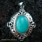 Bali Design 925 Silver & Turquoise Pendant SP-443-KT