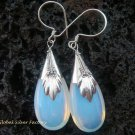 925 Silver Opalite Moonstone Teardrop Earrings SJ-110-KT