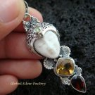 Sterling Silver & Mixed Gems Goddess Pendant GDP-941-PS