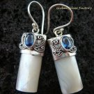 925 Silver Blue Sapphire & Shell Earrings ER-524-KT