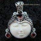 Sterling Silver & Garnet Goddess Pendant GDP-975-KT