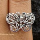 Sterling Silver Filigree Butterfly Ring SR-126-KT