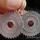 Sterling Silver Round Bali Design Earrings SE-148-KT