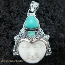 925 Silver & Turquoise Goddess Pendant GDP-938-PS