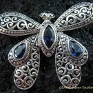 925 Silver & Blue Sapphire Butterfly Wing BC-160-KT