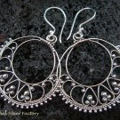 Sterling Silver Round Bali Earrings SE-149-KT