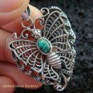 925 Silver & Turquoise Butterfly Pendant SP-464-KT