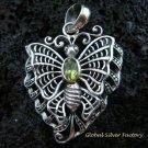 925 Silver & Peridot Butterfly Pendant SP-462-KT
