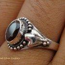 Sterling Silver Garnet Gemstone Ring RI-279-KT