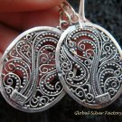 Sterling Silver Oval Filigree Earrings SE-147-KT