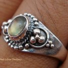 Sterling Silver Labradorite Gemstone Ring RI-284-KT