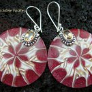925 Silver Citrine & Shell Earrings ER-542-KT