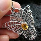 925 Silver & Citrine Butterfly Pendant SP-468-KT