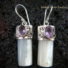 925 Silver Amethyst & Shell Earrings ER-522-KT