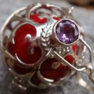 925 Silver Amethyst Large Harmony Ball Pendant HB-102c-KT