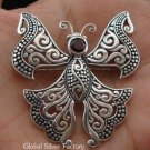 925 Silver Garnet Butterfly Brooch BC-119-KT