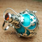 Sterling Silver Garnet Harmony Chime Ball Pendant HB-131-KT