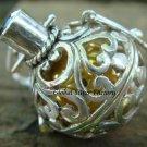 Silver Amethyst Bali Design Harmony Ball Pendant HB-152-KT