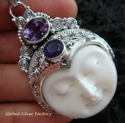 Sterling Silver & Amethyst Goddess Pendant GDP-997-PS