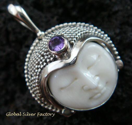 925 Silver Amethyst Goddess Pendant GDP-992-PS