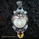 925 Silver & Multi Gems Goddess Pendant GDP-982-PS