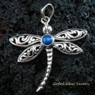 925 Silver & Lapis Dragonfly Pendant SP-480-KT