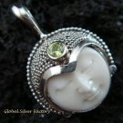 925 Silver Peridot Goddess Pendant GDP-991-PS