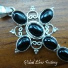 925 Silver Black Onyx Cross Pendant SP-291-NY