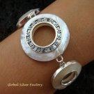 Sterling Silver MOP Designer Bracelet SBB-331-KT