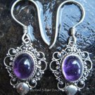 925 Silver & Amethyst Balinese Design Earrings ER-280-NY