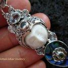925 Silver Paua Shell & Mix Gems Goddess Pendant GDP-1005-PS