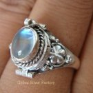 925 Silver Rainbow Moonstone Poison Ring LR-514-KT