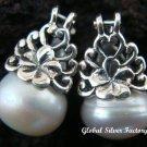 925 Silver White Flower Earrings ER-394-KA