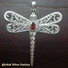 Sterling Silver Garnet Dragonfly Pendant SP-168-IKP