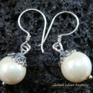 Sterling Silver Freshwater Pearl Drop Earrings ER-556-KT