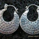 Sterling Silver Round Hoop Earrings SE-152-KT