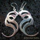 Sterling Silver Double S Design Earrings SE-157-KT
