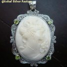 Sterling Silver Lady Cameo Pendant SP-220-KT