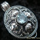 Sterling Silver Blue Topaz Locket Pendant LP-157-KT