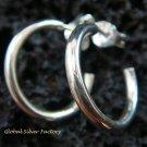 Sterling Silver Round Stud Earrings SE-155-KT