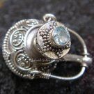 Sterling Silver Perfume Pendant With Blue Topaz PP-207-KT