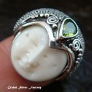 Sterling Silver Peridot Goddess Ring GDR-1077-PS