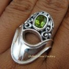 925 Silver Peridot Designer Ring RI-323-KT