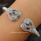 Bali Design Multi Gems Cuff Bangle SBB-359-KT