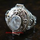 925 Silver Rainbow Moonstone Poison Ring LR-607-KT